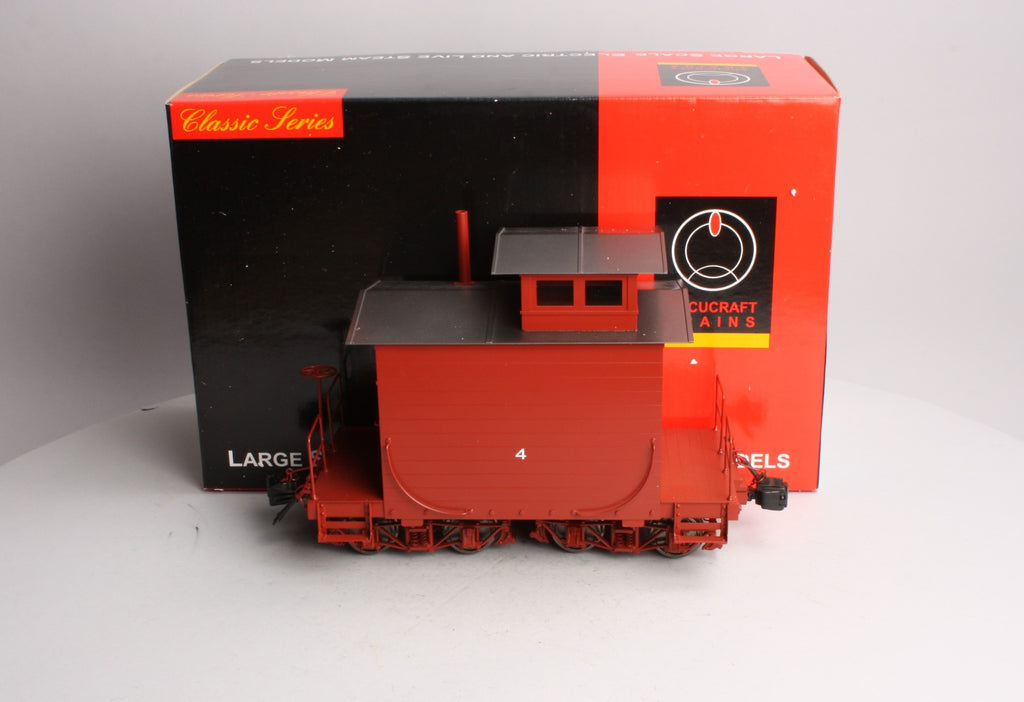 Accucraft AC83-150 1:20.3 West Side Brass Lumber Caboose w/ Metal Wheels #4