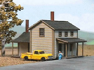 American Model Builders 628 Laser Art Two Story Section House N Scale Kit