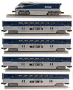 American Z-Line 7002 Z Amtrak F59PHI with Passenger Cars #452 (4)