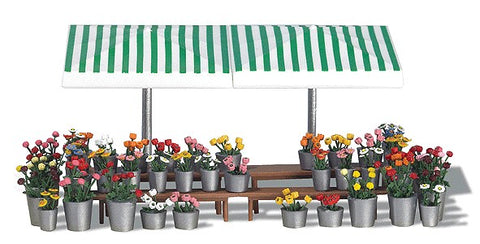 Busch 1072 HO Flower Marketstand
