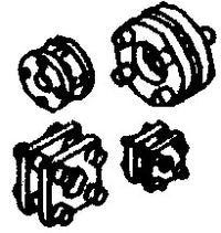 Cal Scale 190-485 HO Steam Loco Square/Round Piping Unions (Pack of 16)
