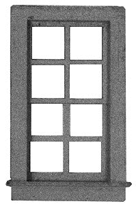 "Micro Engineering 80-067 HO 25"" x 50"" 8 Pane Windows (Pack of 8)"