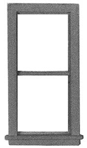 "Micro Engineering 80-068 HO 28"" x 64"" 2 Pane Windows (Pack of 8)"