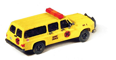 GHQ 284-51014 Emergency - Fire Dept. Vehicles (Unpainted Metal Kit) Chevrolet Suburban Chief's Truck