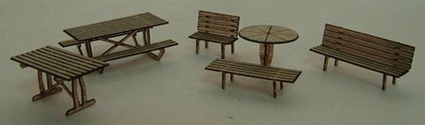 GCLaser 1103 N Scale Tables & Chairs Kit 19/