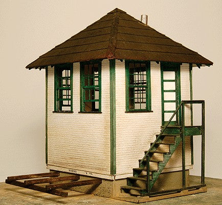 GC LaserInterlocking Tower 1292 HO Scale - Kit (Laser-Cut Wood)
