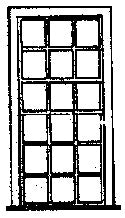 Grandt Line 5097 HO 42? x 91? Engine House 18 Pane Window (Pack of 6)