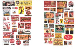 JL Innovative Design 633 N 1930s-50s Saloon & Tavern Signs/Posters (Set of 62)