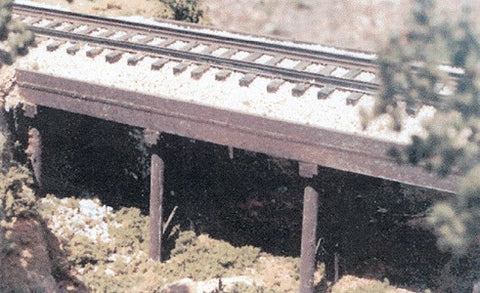B.T.S. 17103 O Scale Ballasted Deck Trestle Craftsman Building Kit