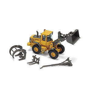 Motorart 13094 HO Volvo Loader L60E with Attachments