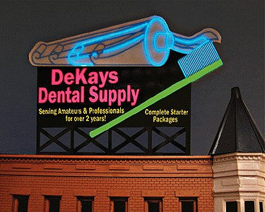 Miller Engineering 9882 N Animated Neon Billboard DeKays Dental Supply Medium