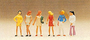 Preiser 10122 HO Standing Girl Figures (Set of 6)