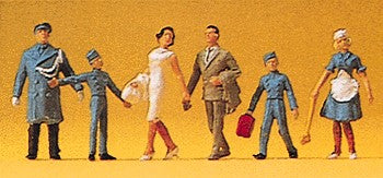 Preiser 14131 HO Hotel Staff and Guests Figures (Pack of 6)