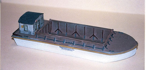 Sea Port Model Works H1131N Barge with Pointed Bow