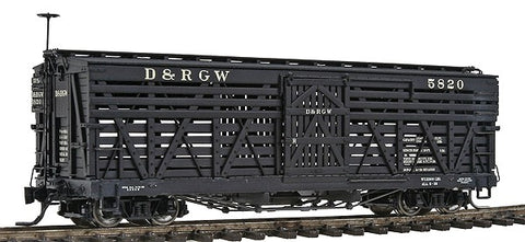 Blackstone Models 340217 HOn3 Denver & Rio Grande Western 5500-Series 30' Stock Car #5820