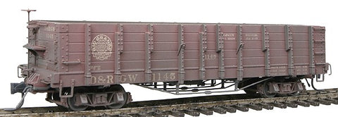 Blackstone Models 340401W HOn3 Denver & Rio Grande Western High Side Gondola #1145 -Weathered