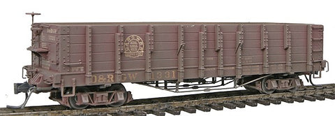 Blackstone Models 340403W HOn3 Denver & Rio Grande Western High Side Gondola #1331 -Weathered