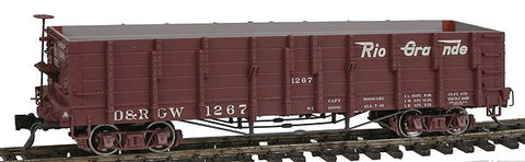 Blackstone Models 340405 HOn3 Denver & Rio Grande Western High Side Gondola #1267