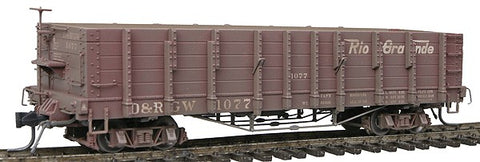 Blackstone Models 340410W HOn3 Denver & Rio Grande Western High Side Gondola #1077 -Weathered