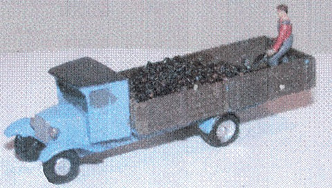 The N Scale Architect 20028 N Chevrolet Coal Delivery Truck w/ Shoveling Figure