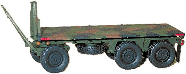 Trident Miniatures 81011 HO Modern US Army - Heavy Trailer M1076 3-Axle Wagon-Type Flatbed