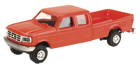 Trident Miniatures 900782 HO Ford F-350 Crew Cab Pickup Red