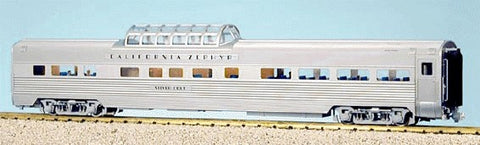 "USA Trains 31016 G ""California Zephyr"" Corrugated Aluminum Vista Dome Lighted #1"