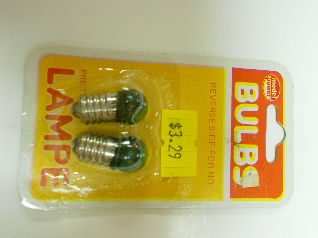 Model Power 1449962 #1449 14 Volt Green Screw Base Bulbs (2)