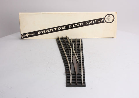 Gargraves 1146 O Gauge 3 Rail Left Hand Phantom Stainless O80 Remote Switch w/DZ-2500 Motor