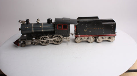 Lionel 6 Standard Gauge Prewar 4-4-0 Steam Locomotive and Tender