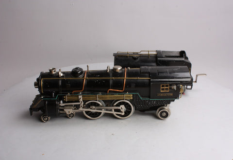 American Flyer 4696 Standard Gauge Brass Piper Steam Locomotive with Tender #4694