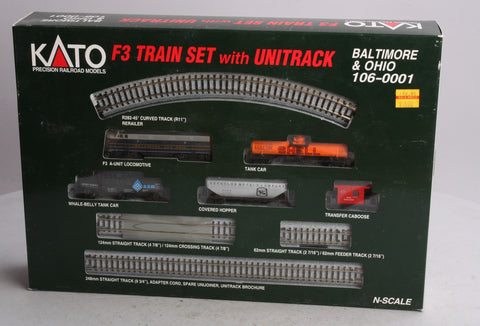 Kato 106-0001 N Scale Baltimore & Ohio F-3 Train Set w/Unitrack