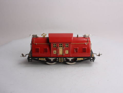 Lionel 10 0-4-0 Stnadard Gauge Red Powered Electric Locomotive (Restored)