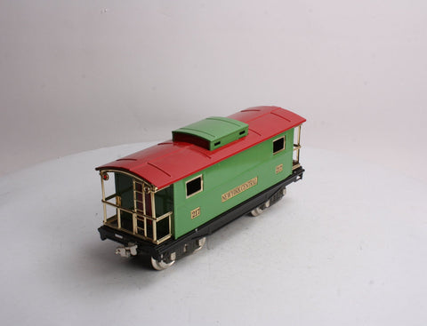 MTH 10-1055 Standard Gauge 217 New York Central Caboose with Brass Trim