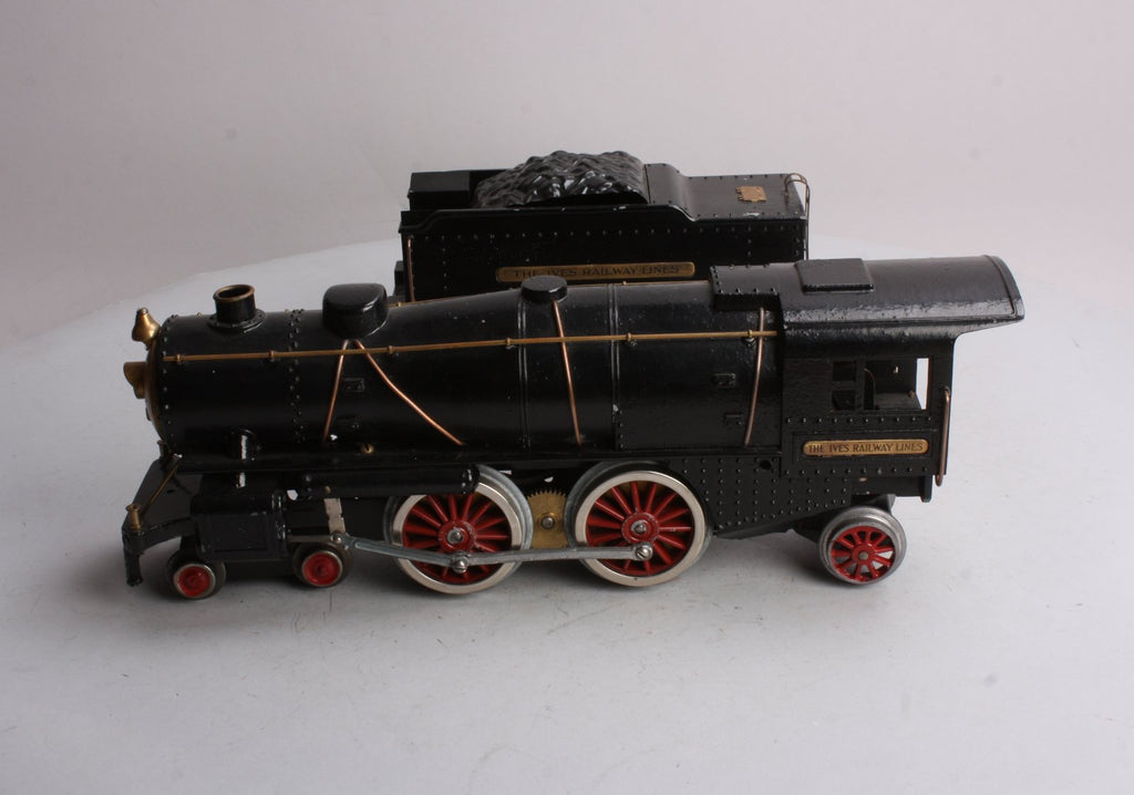Ives 1134 Standard Gauge 4-4-2 Steam Locomotive and Tender