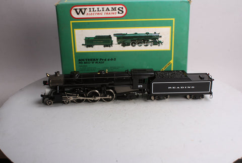 Williams O Scale 2-Rail Brass Reading 4-6-2 Steam Locomotive & Tender #175