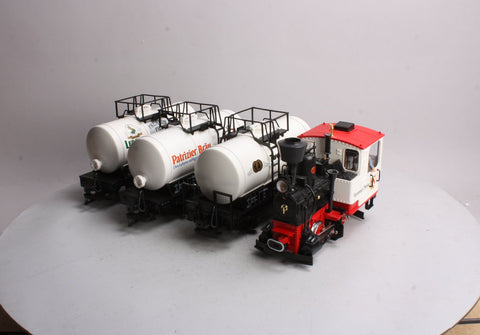 LGB 0585 G Scale Steam Locomotive with 3 Tank Cars