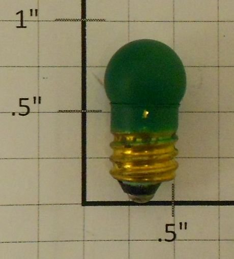 Lionel 1449G 14 Volt Green Translucent Screw Bulb