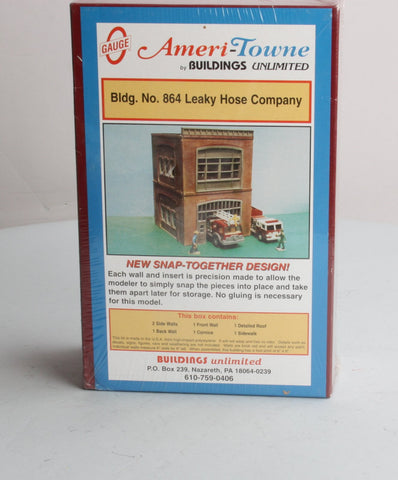 Ameritown 864 Leaky Hose Company O Scale Building Kit