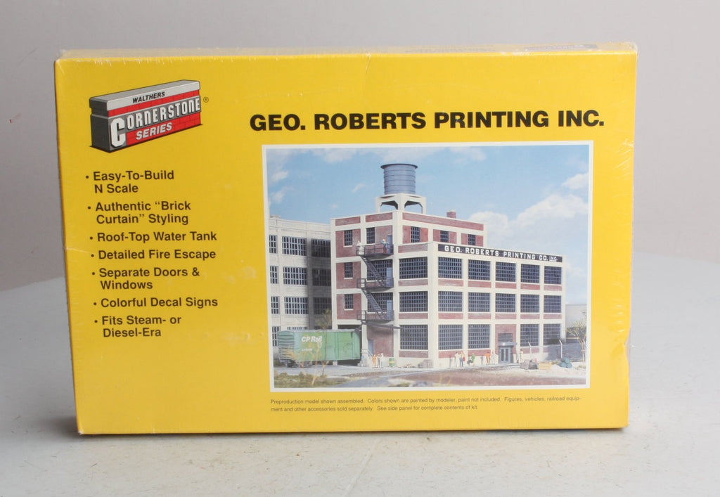 Walthers 933-3231 N Scale GEO. Roberts Printing Inc. Structure Kit