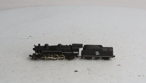 Rivarossi N Scale Grand Trunk Western 2-8-2 Steam Locomotive and Tender #1523