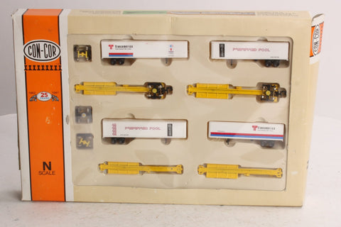 Con-Cor 0001-001902 N Scale Fuel Foiler 4-Car Set