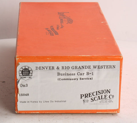 Precision Scale Company 15048 On3 Brass D&RGW Western Business Car B-1