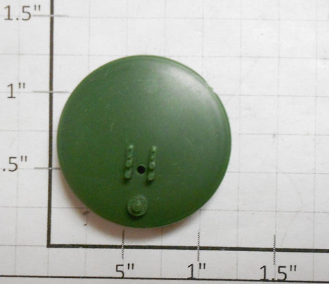 "Bachmann HO1000  1-1/8"" Diameter Green Tank Car End (2)"
