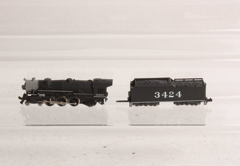 Rivarossi 9273 N Atchison, Topeka and Santa Fe 4-6-2 Steam Locomotive and Tender