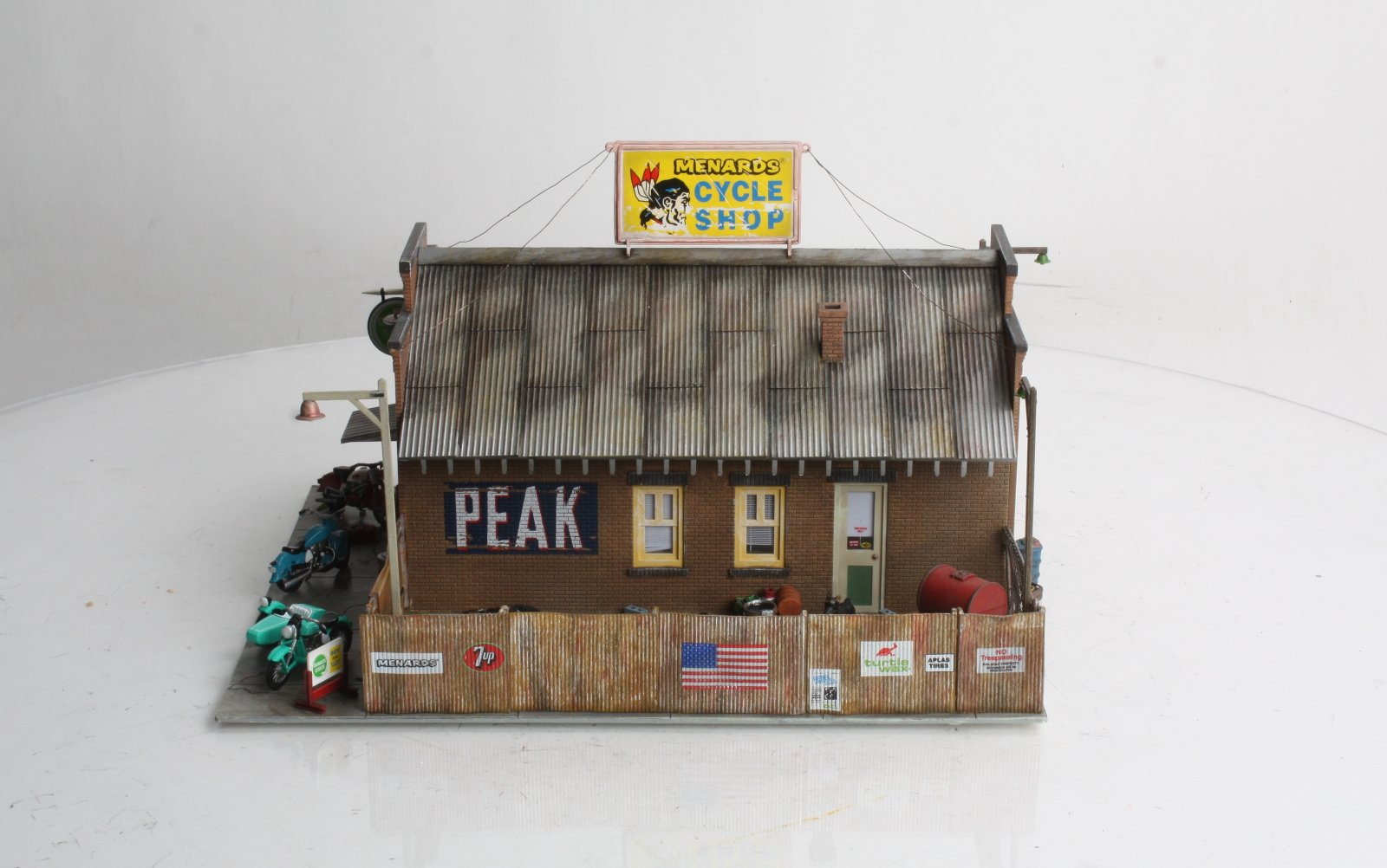 Woodland Scenics BR5826 O Scale Built-Up Menards Cycle Shop Building