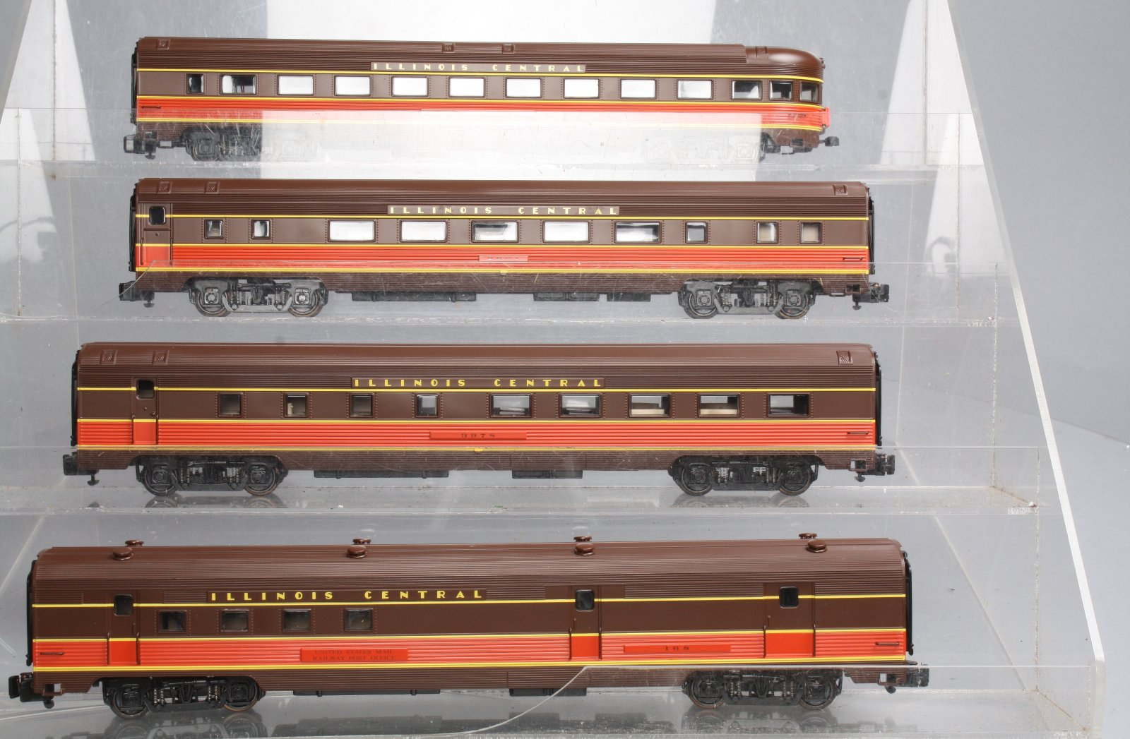 American Models BDBS17 S Scale Illinois Central Passenger Car Set (4