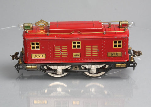 Lionel 8 Standard Gauge 0-4-0 Powered Electric Locomotive