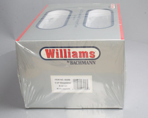 Williams 43256 Chicago Burlington & Quincy O27 Streamline Passenger 4-Pack
