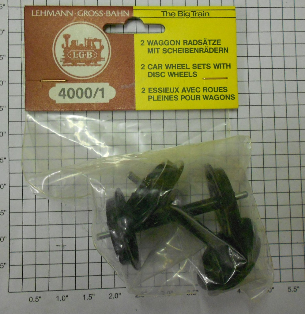 LGB 4000/1P 2 Wheel Sets in Package